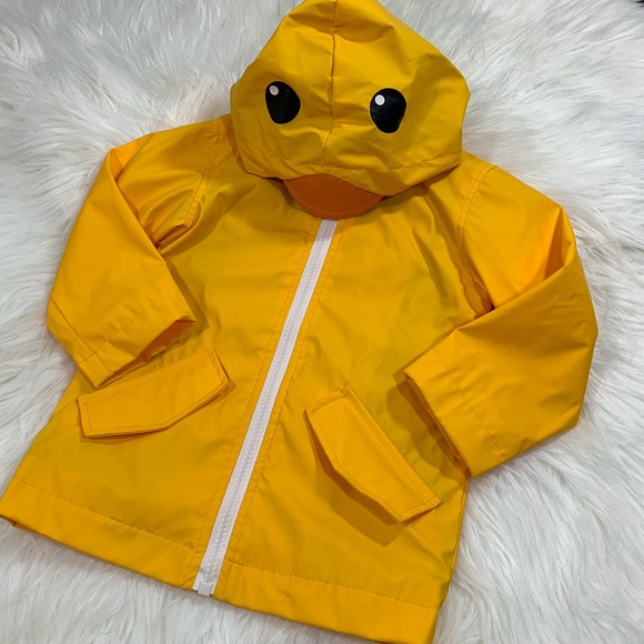"""On Clearance reasonably priced big collection Cat & Jack Toddler Yellow """"Duck"""" Rain Jacket"""